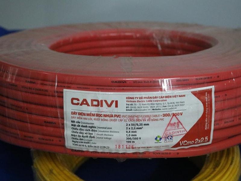 Day Cap Dien CADIVI 2x2.5 Mm 1