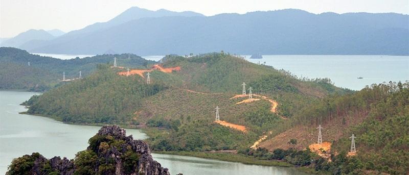 Hinh Anh Cap Nhom Loi Thep ACSR ĐZ 22kV Xa Ban Sen Van Don Quang Ninh